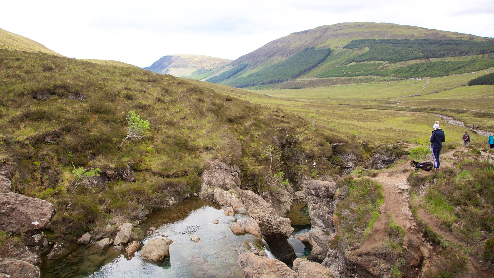 Isle of Skye showing tranquil scenes, hiking or walking and a river or creek