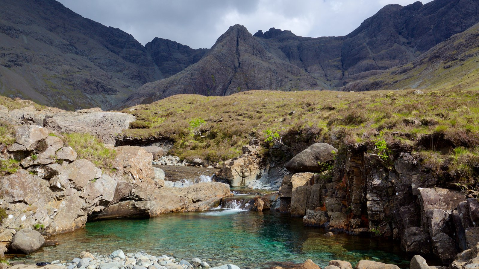 Isle of Skye which includes a river or creek, a pond and tranquil scenes
