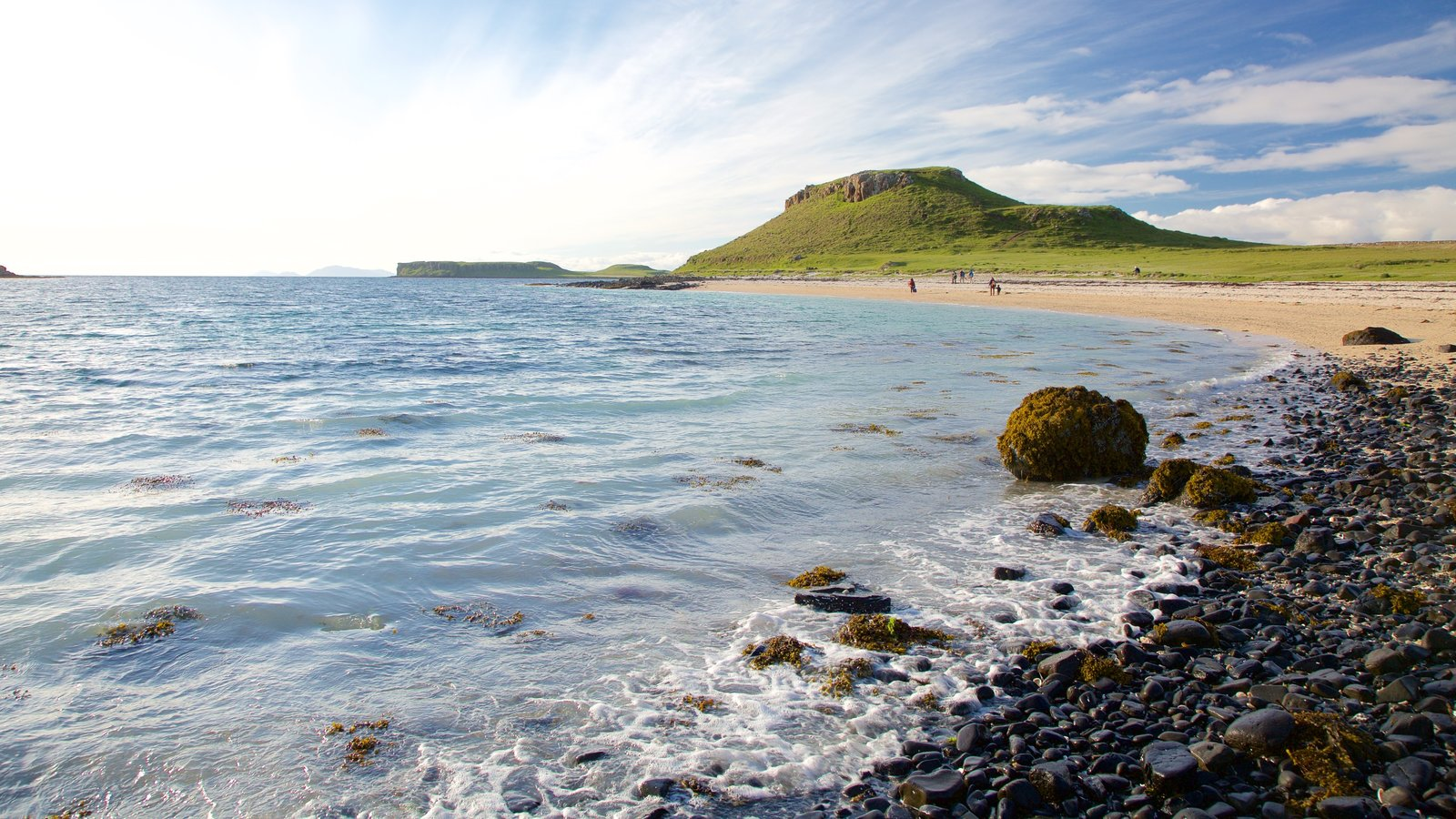 Isle of Skye showing tranquil scenes, a pebble beach and a sandy beach