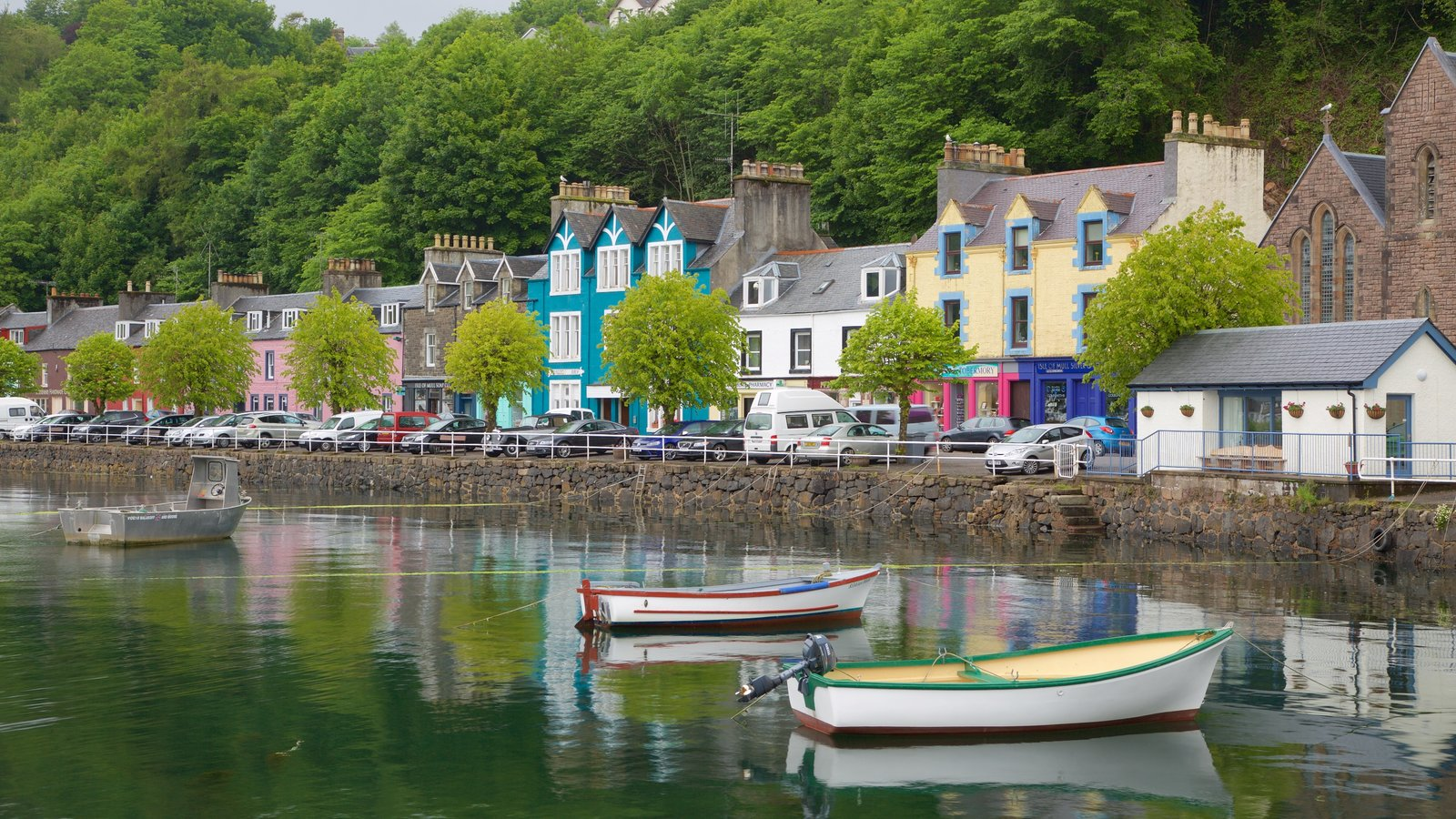 Isle of Mull featuring a bay or harbor and a coastal town