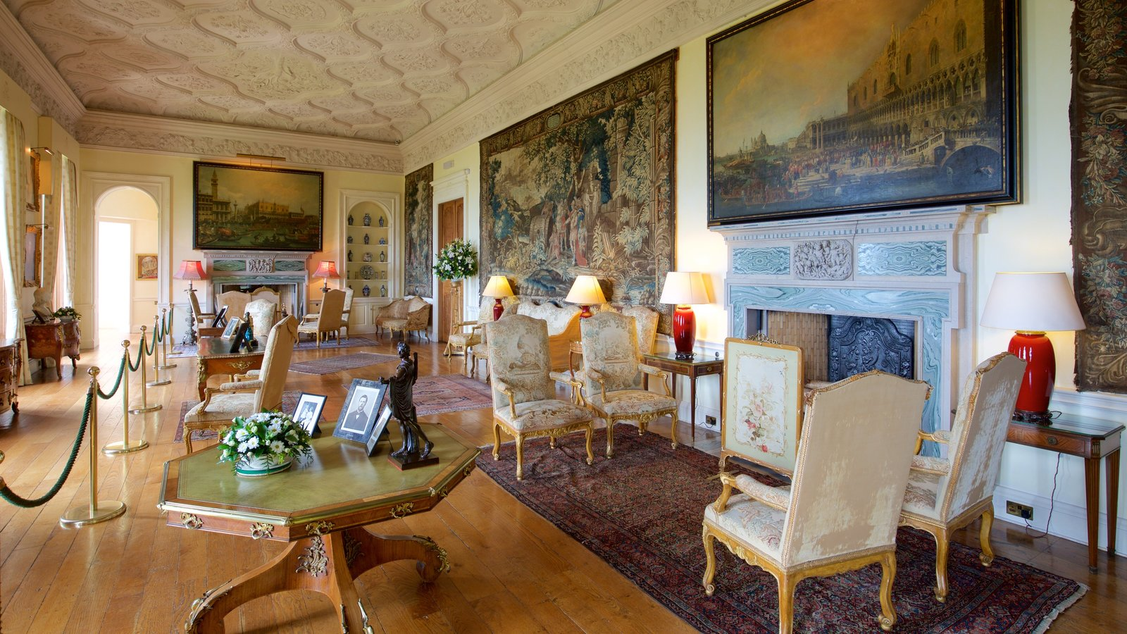Dunrobin Castle featuring chateau or palace, interior views and heritage elements