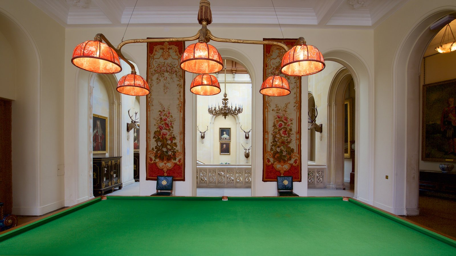Dunrobin Castle featuring heritage elements, interior views and chateau or palace