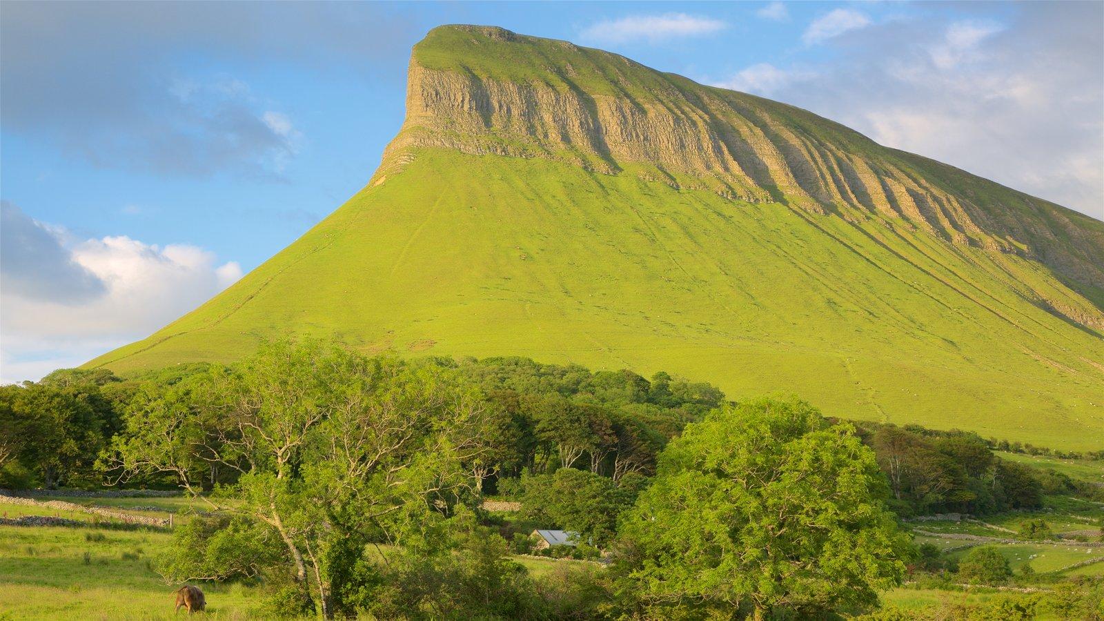Ben Bulben mostrando montañas y escenas tranquilas