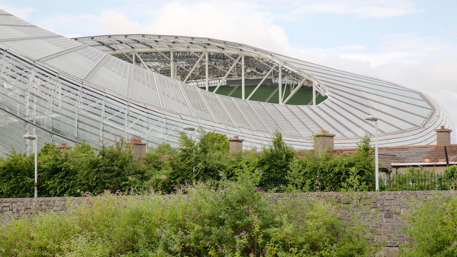 Estadio Aviva que incluye patrimonio de arquitectura y arquitectura moderna