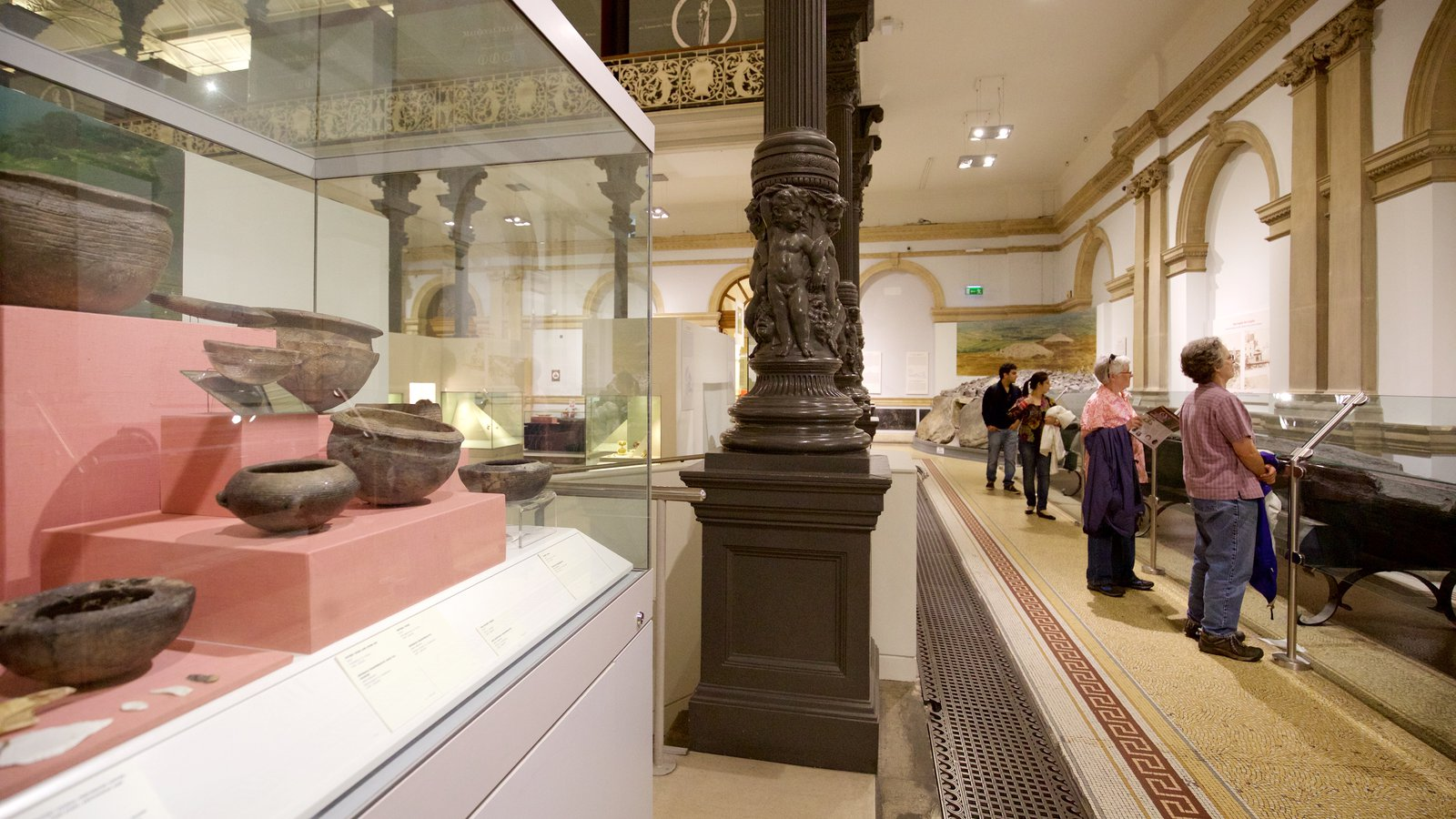National Museum of Ireland - Archaeology and History showing interior views as well as a small group of people