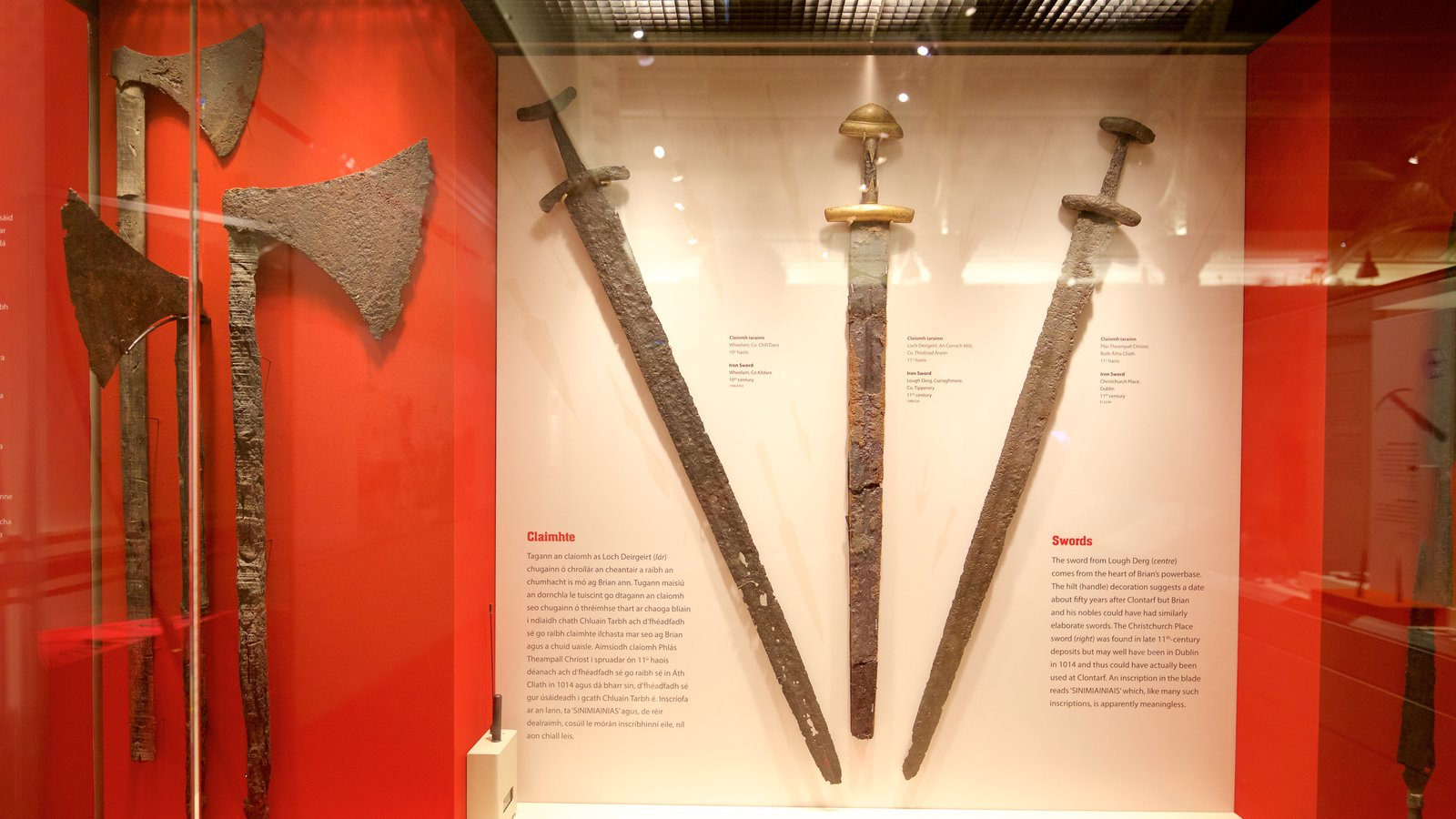 National Museum of Ireland - Archaeology and History showing interior views and military items