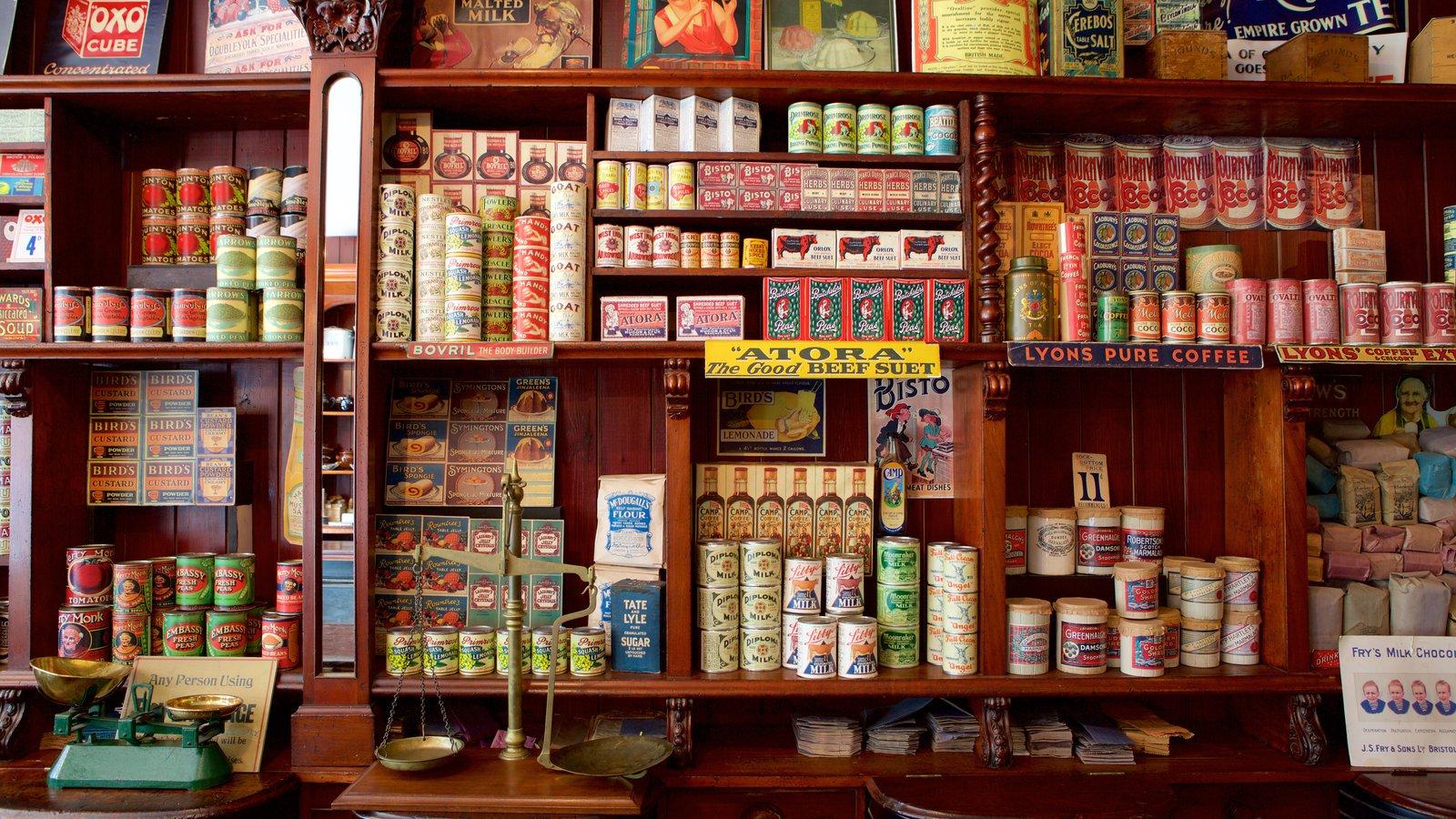 St Fagans showing interior views, shopping and food