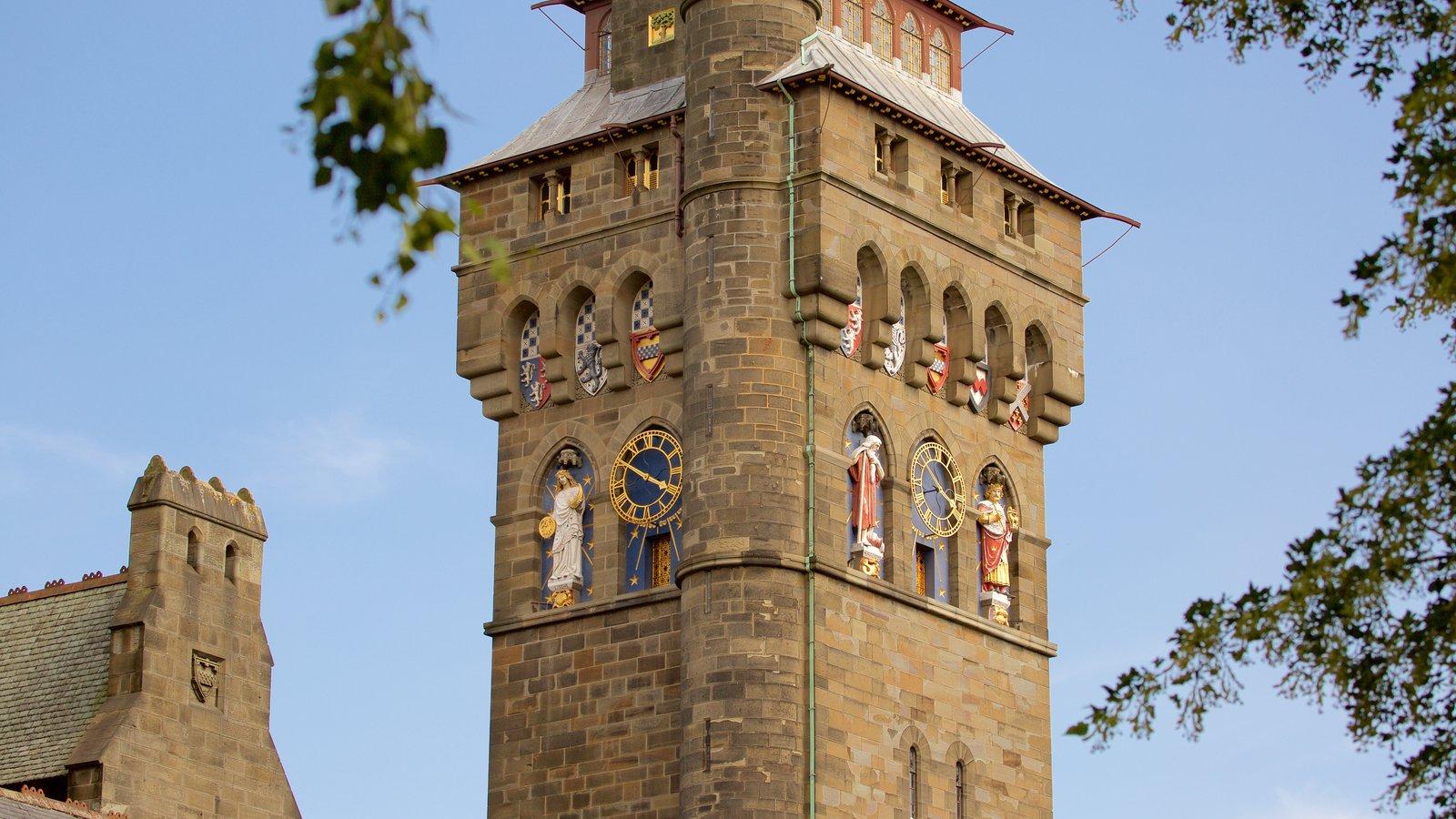 Castelo de Cardiff caracterizando um castelo, arquitetura de patrimônio e elementos de patrimônio