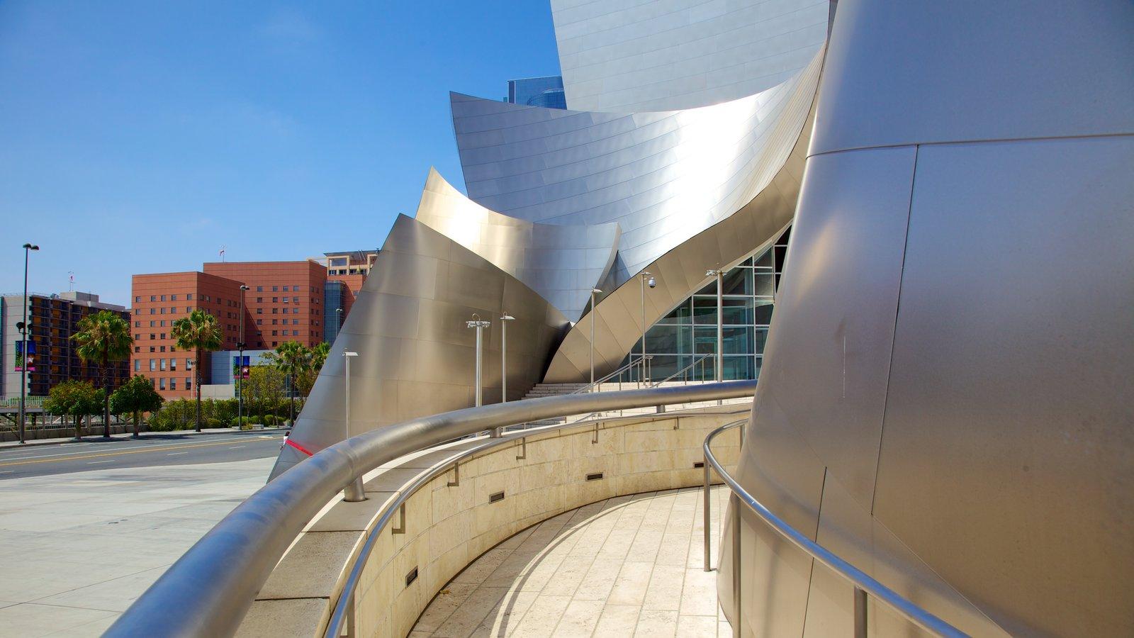 Centro de Los Ángeles que incluye arquitectura moderna y una ciudad