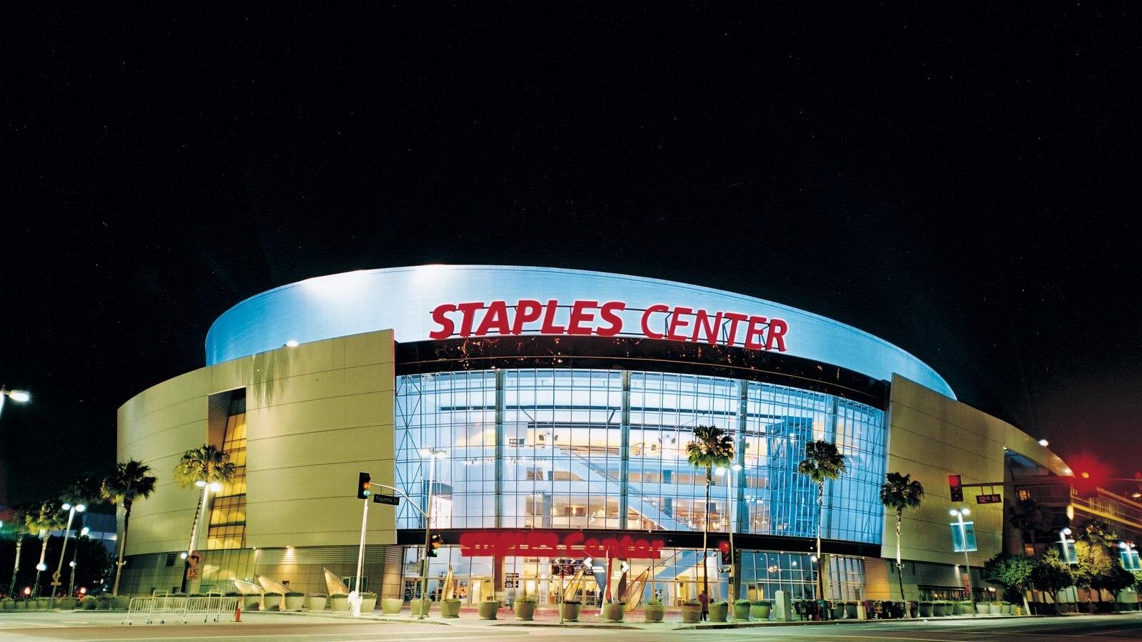 Centro de Los Ángeles mostrando señalización, una ciudad y arquitectura moderna