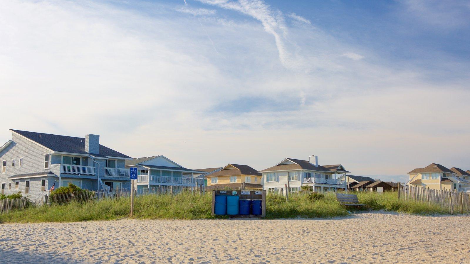 Wrightsville Beach which includes general coastal views, a beach and a house