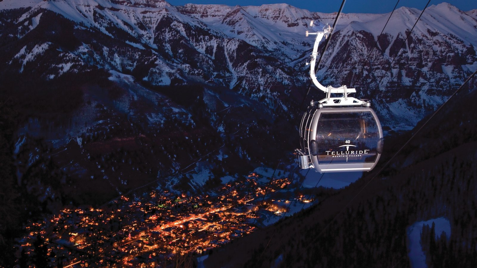 Telluride Ski Resort Featuring A Small Town Or Village Night Scenes And Snow