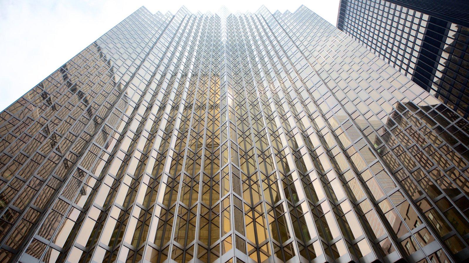 Financial District mostrando arquitetura moderna, uma cidade e um edifício
