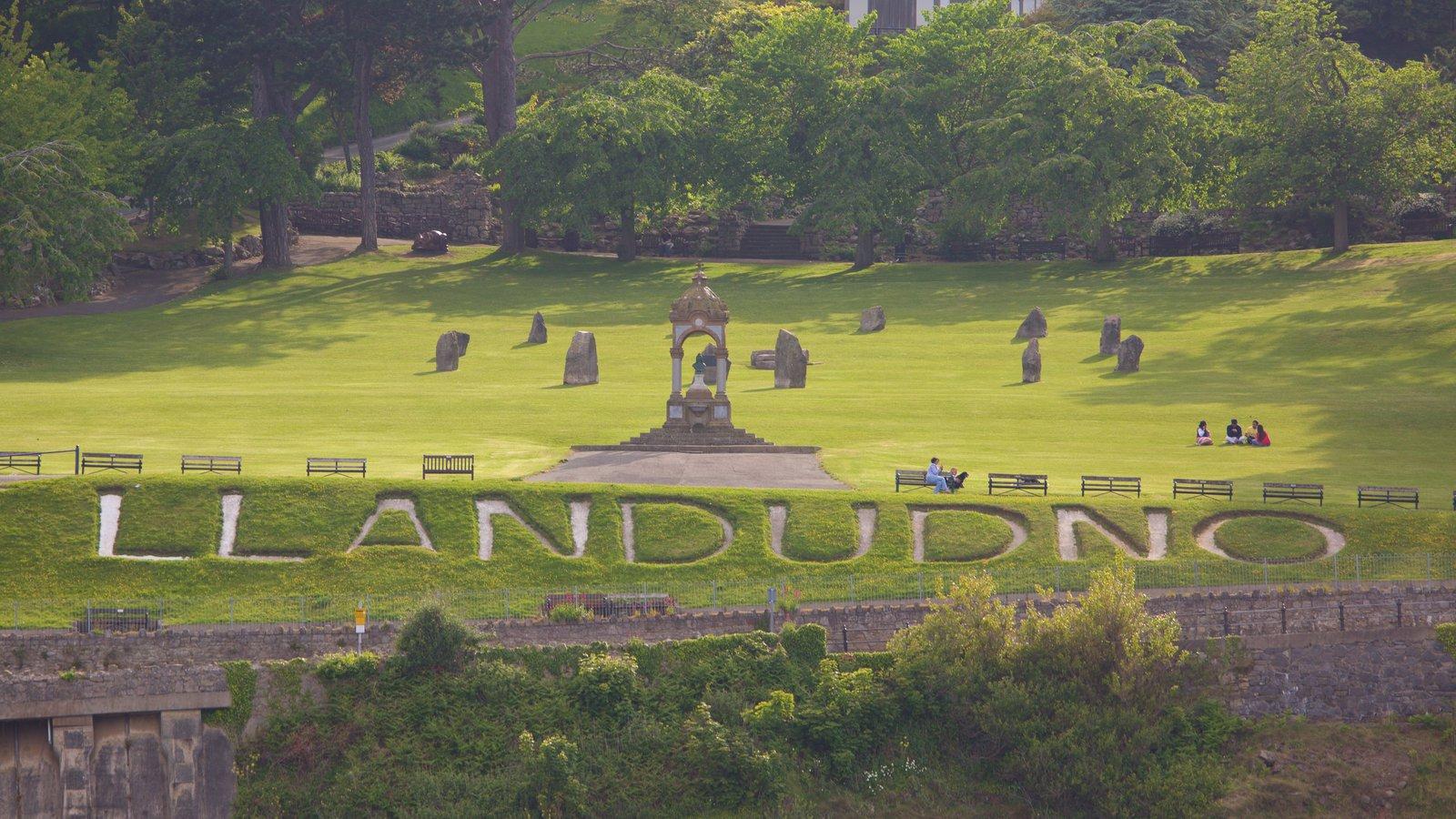 Llandudno mostrando un parque