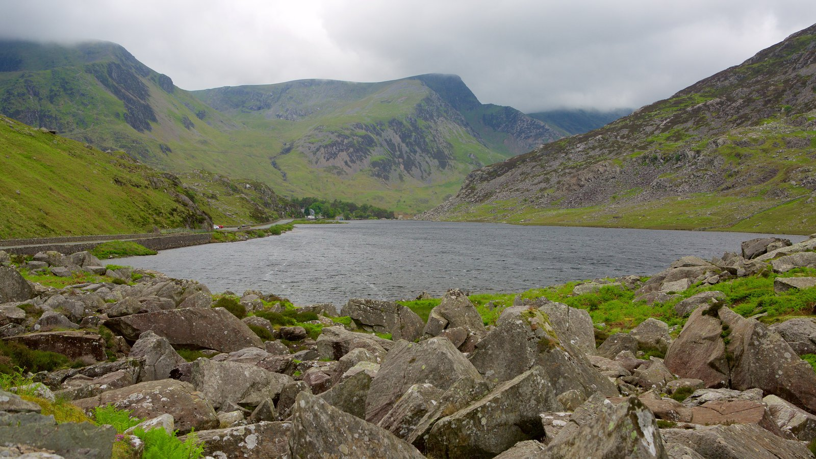Snowdonia National Park showing a river or creek and mountains