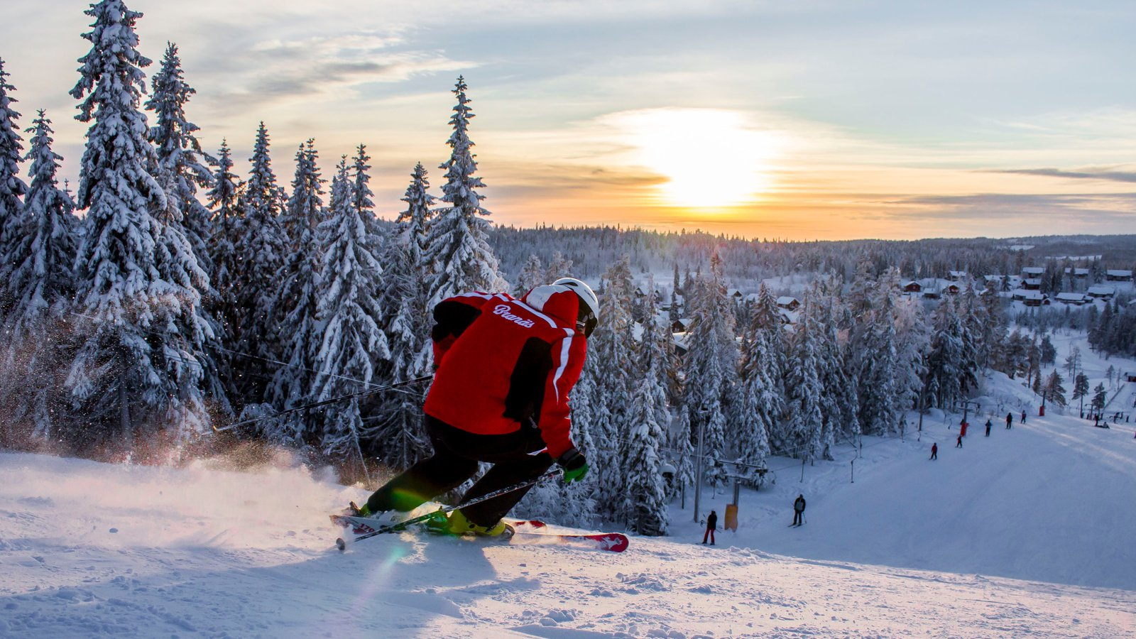 Branas Ski Resort which includes snow, snow skiing and forests