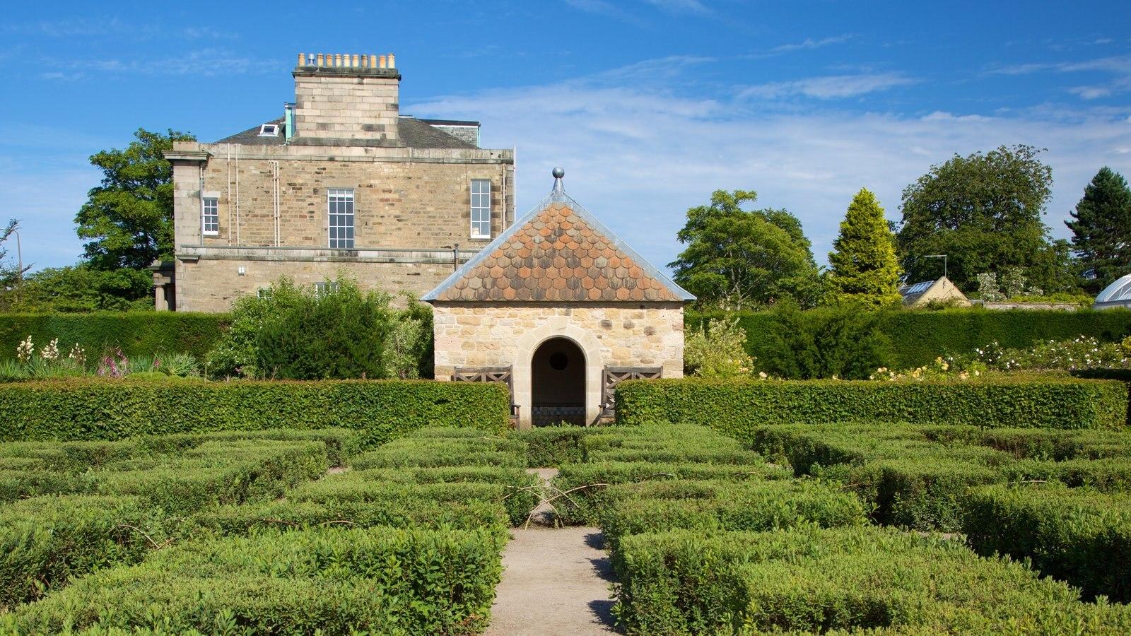 Real Jardín Botánico que incluye elementos del patrimonio y un jardín
