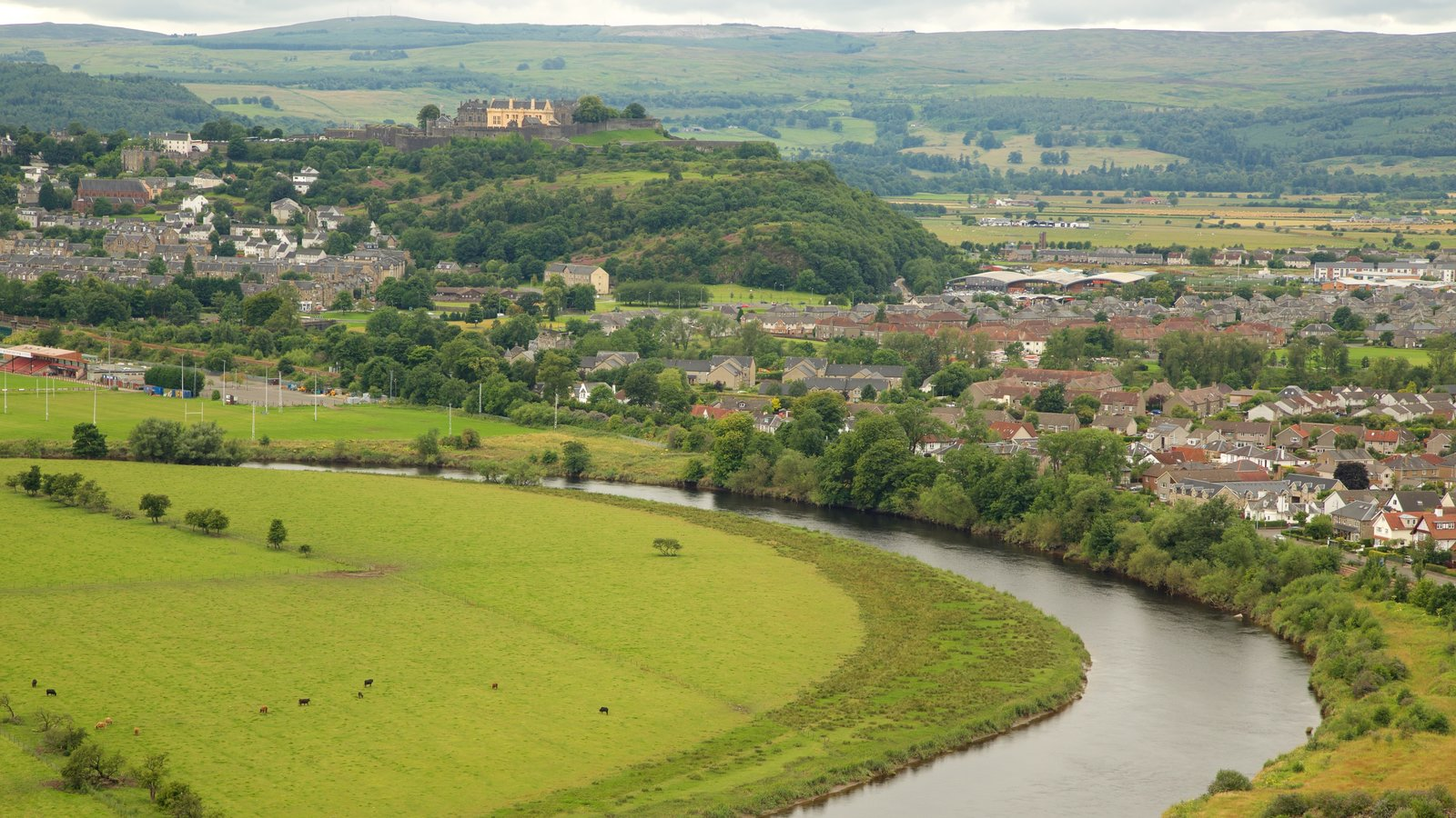 Stirling which includes a river or creek, landscape views and a small town or village