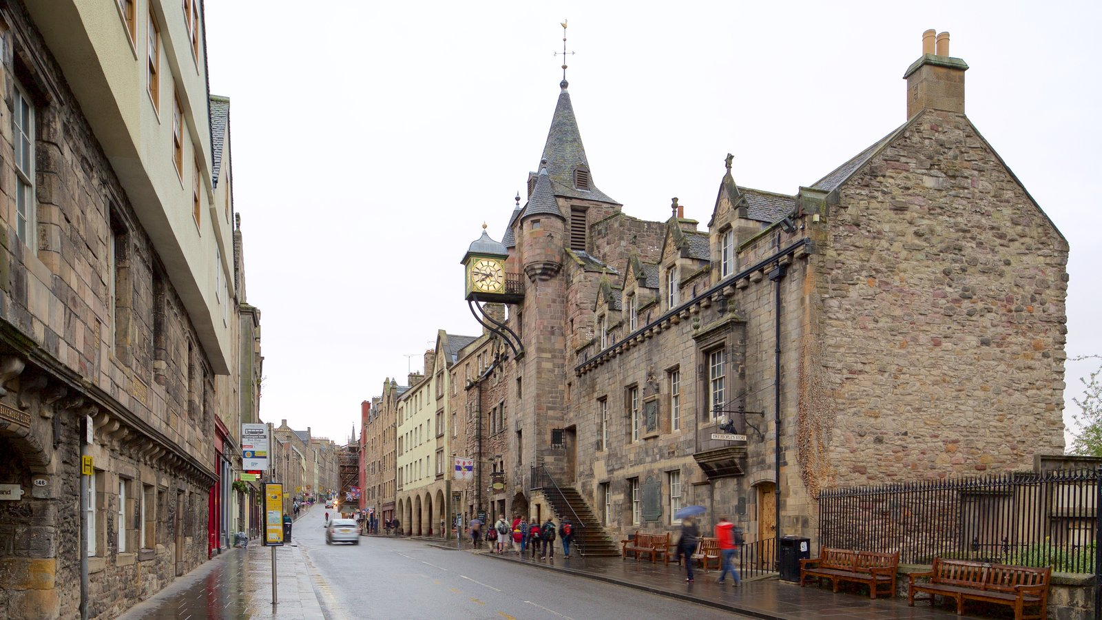 Old Town que incluye escenas urbanas y elementos del patrimonio