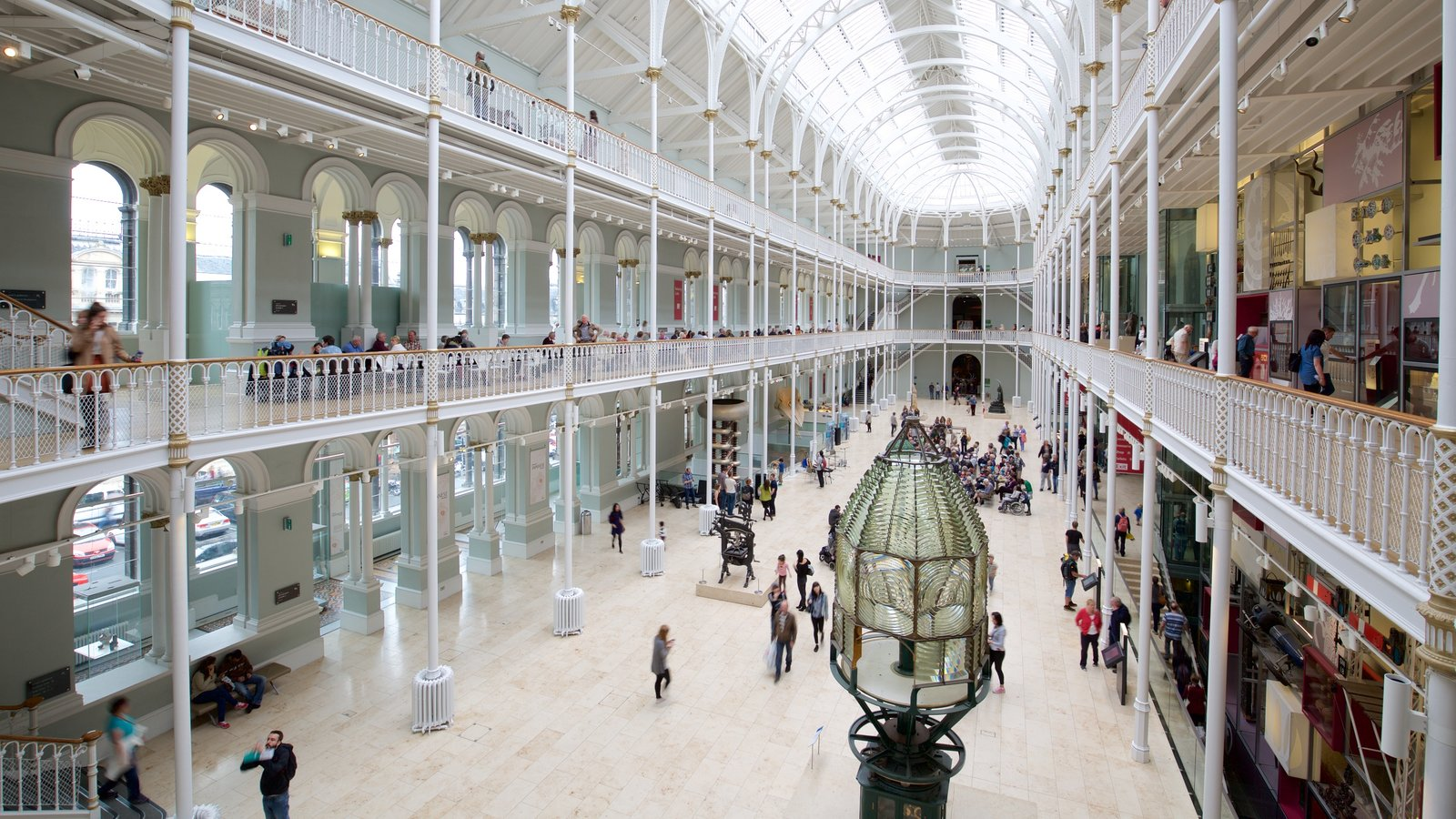 National Museum of Scotland showing interior views
