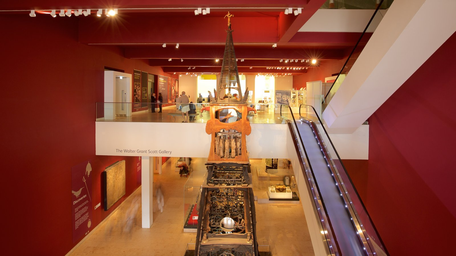 National Museum of Scotland featuring interior views
