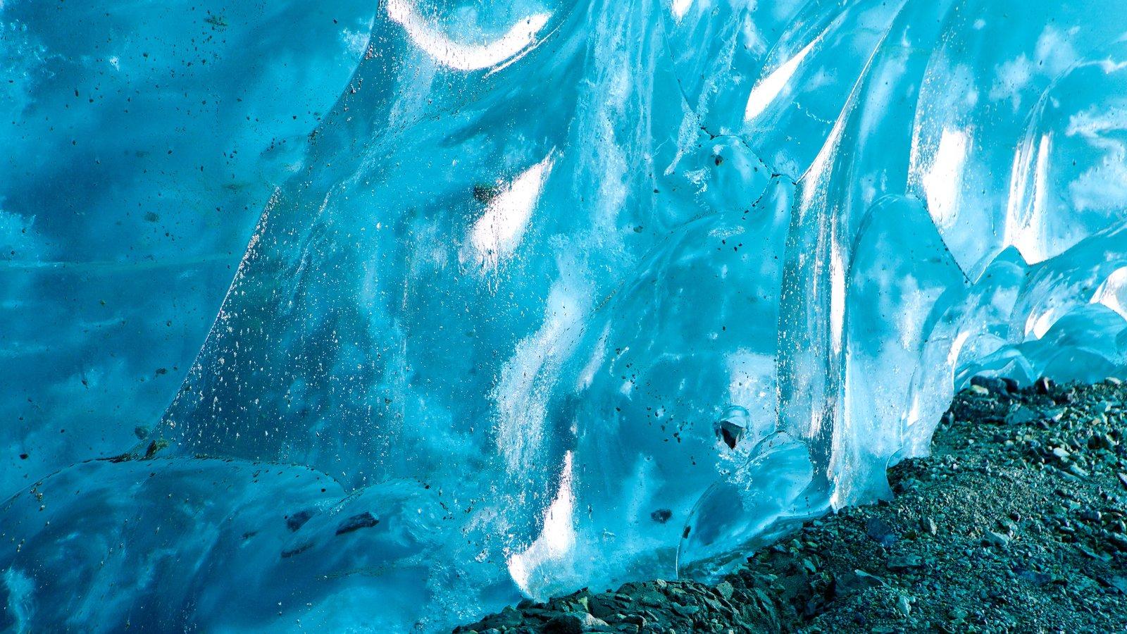 Parque Nacional y Reserva Wrangell-St. Elias ofreciendo nieve y vistas interiores