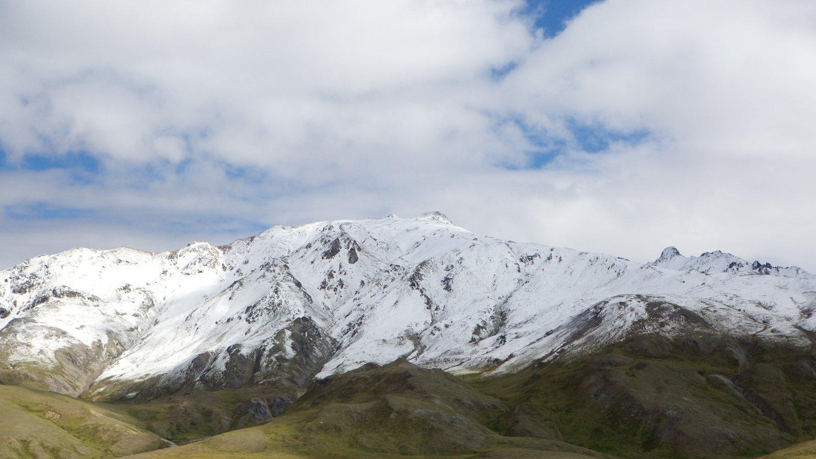 Parque Nacional de Denali que incluye nieve y montañas