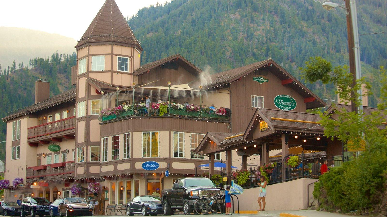 Leavenworth caracterizando cenas de rua