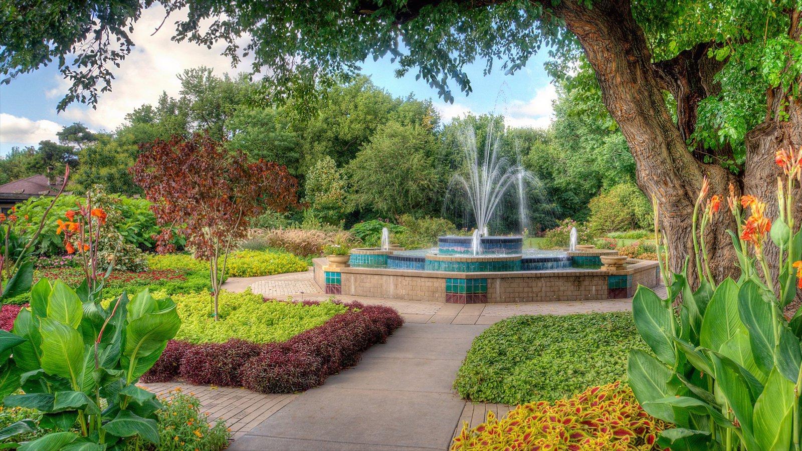 Wichita caracterizando uma fonte e um parque