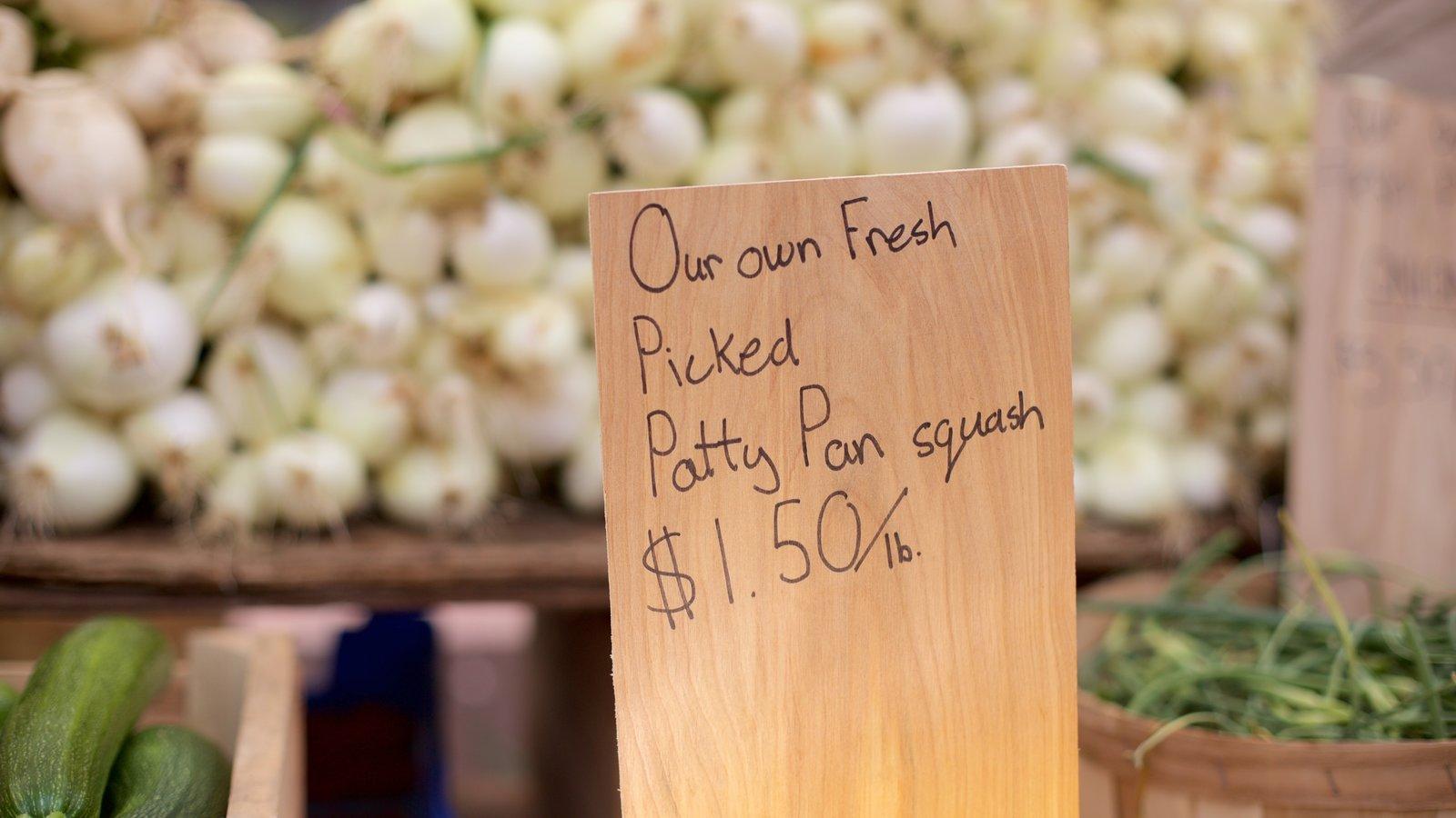Back Bay caracterizando comida, mercados e sinalização