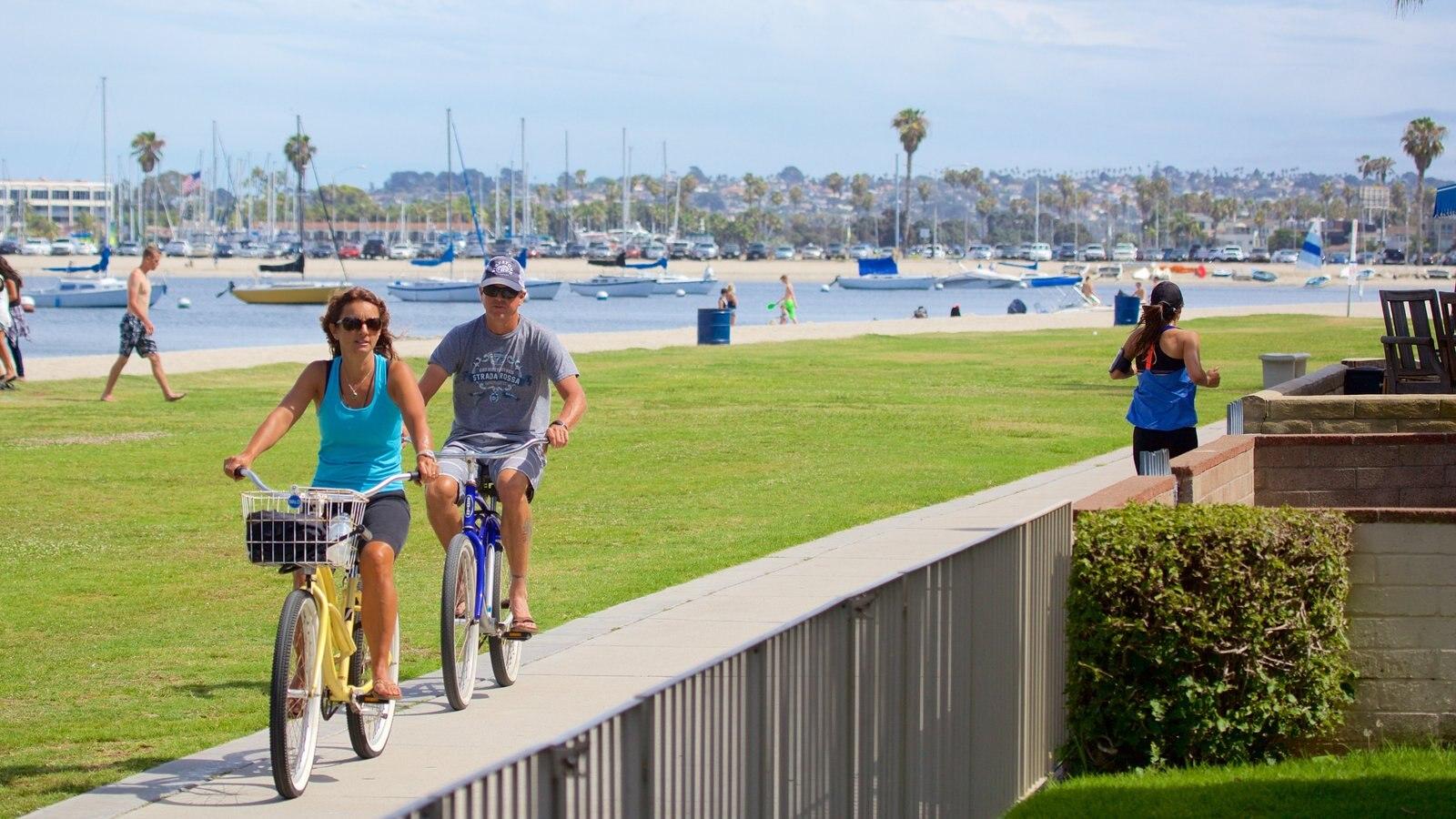 Mission Bay que inclui ciclismo