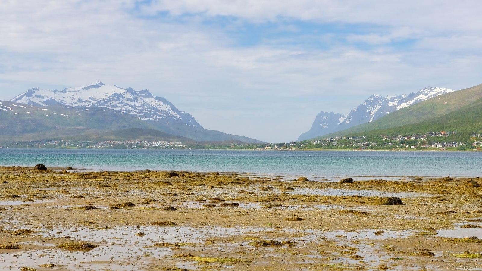 Tromso caracterizando paisagem e montanhas