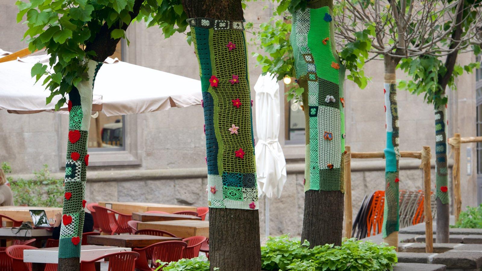 Viterbo mostrando arte ao ar livre