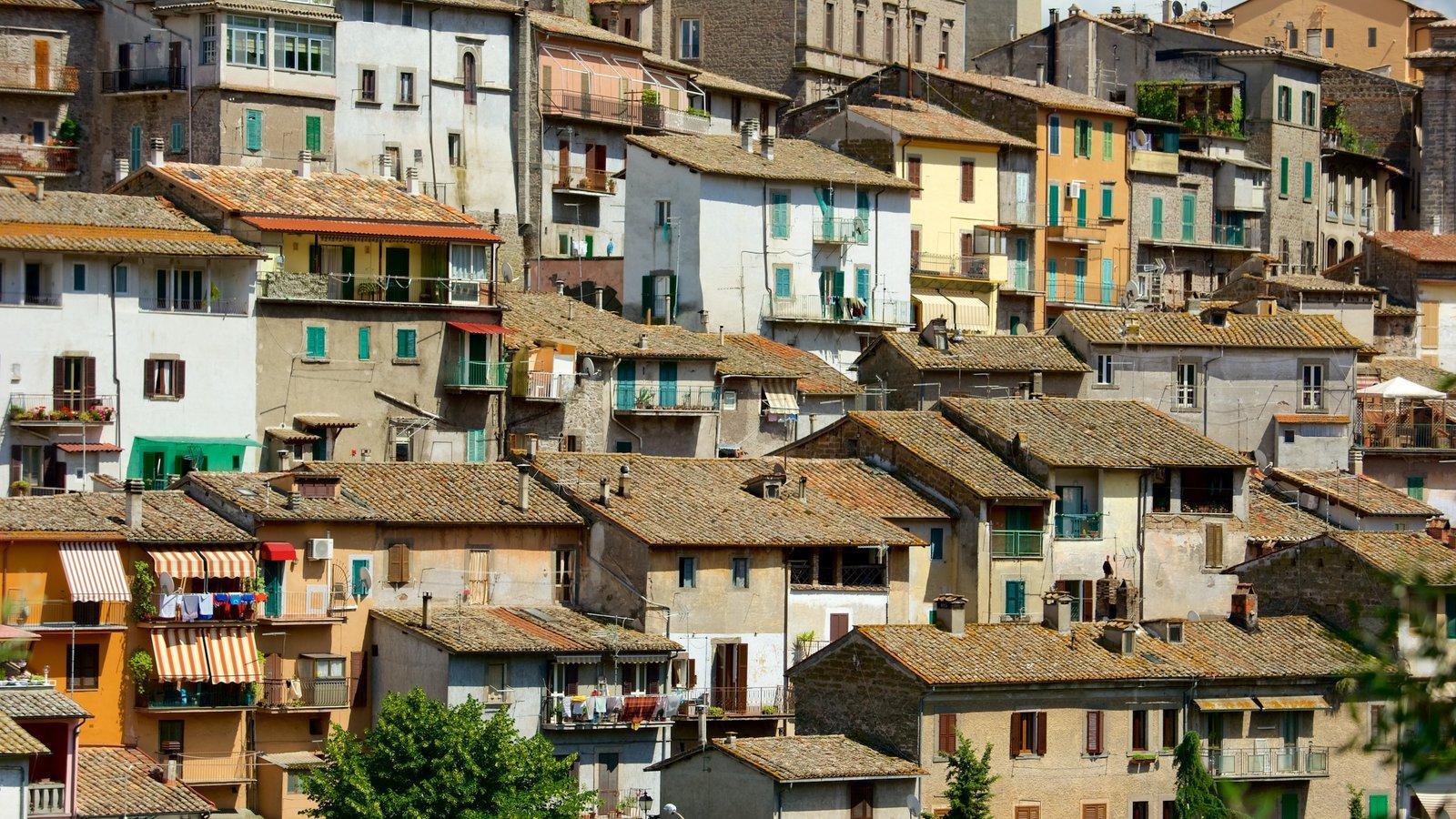 Soriano nel Cimino caracterizando uma cidade e arquitetura de patrimônio