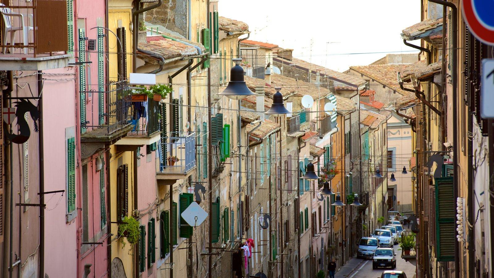 Soriano nel Cimino mostrando arquitetura de patrimônio