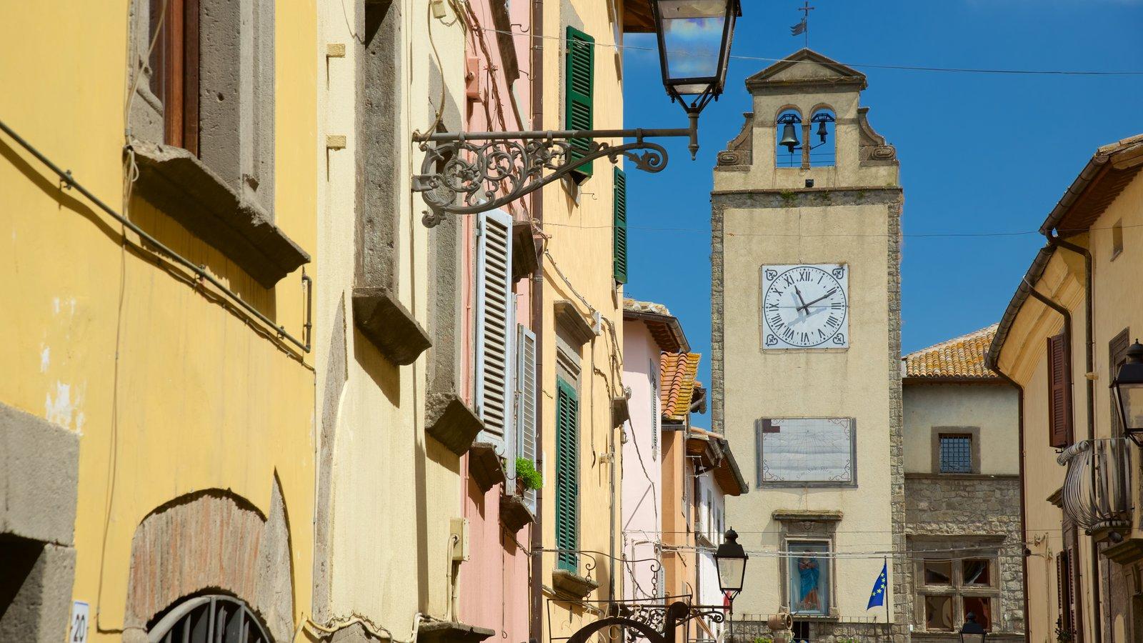 Vitorchiano que inclui arquitetura de patrimônio