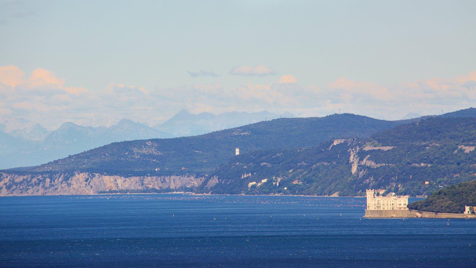 Miramare Castle showing general coastal views