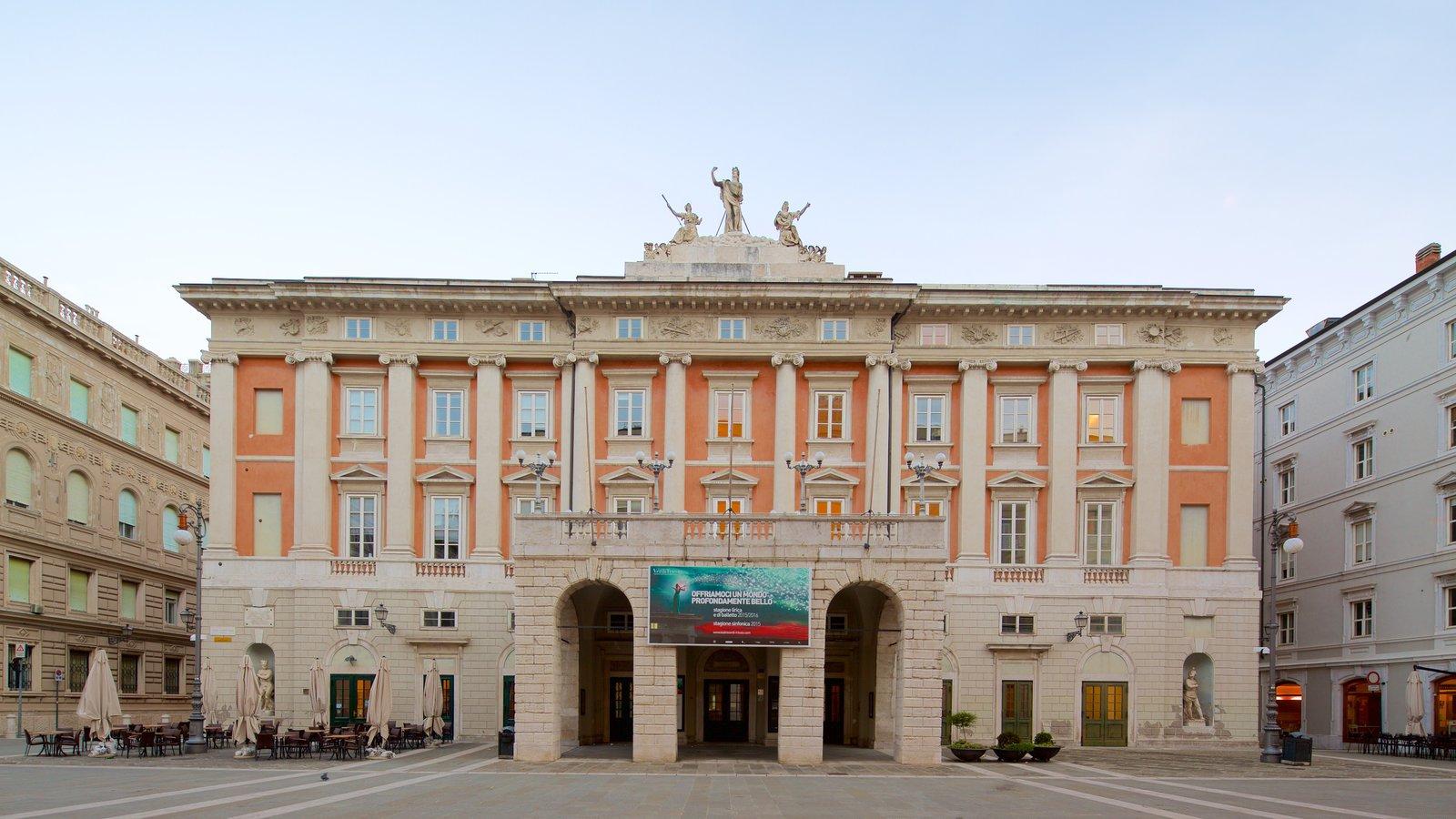 Teatro Lirico Giuseppe Verdi featuring a square or plaza and heritage architecture