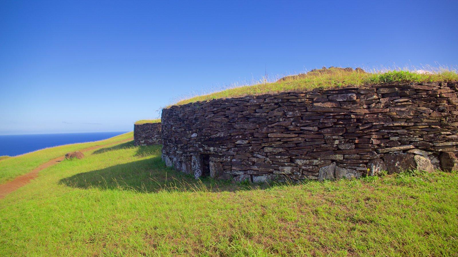 Isla de Pascua mostrando patrimonio de arquitectura