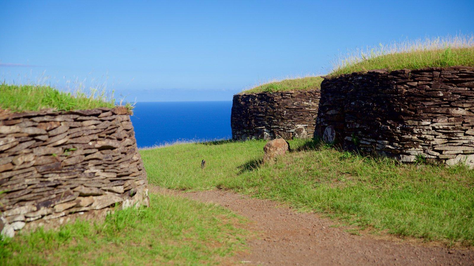 Isla de Pascua que incluye patrimonio de arquitectura