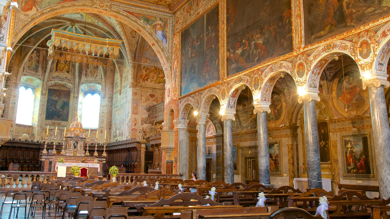Basilica San Pietro which includes art, heritage elements and a church or cathedral