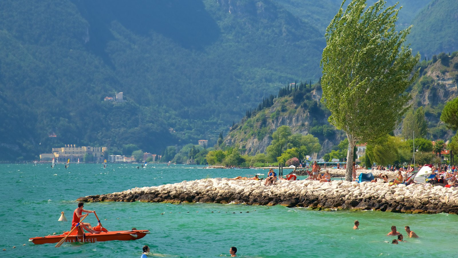 Nago-Torbole which includes rugged coastline