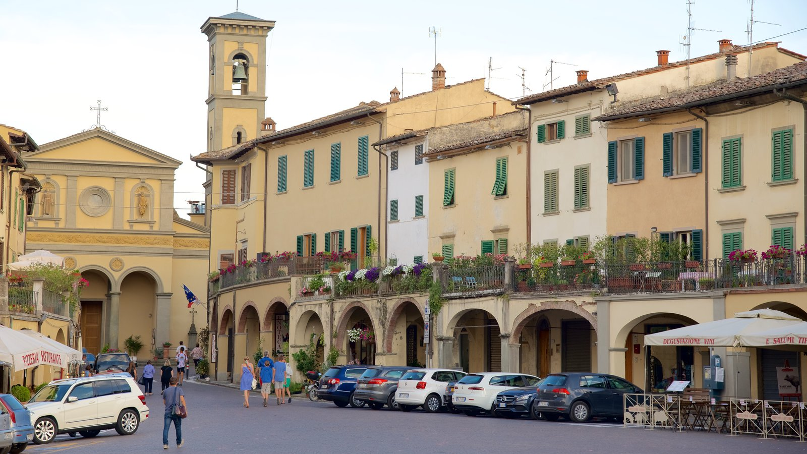Greve in Chianti featuring heritage architecture, street scenes and a small town or village