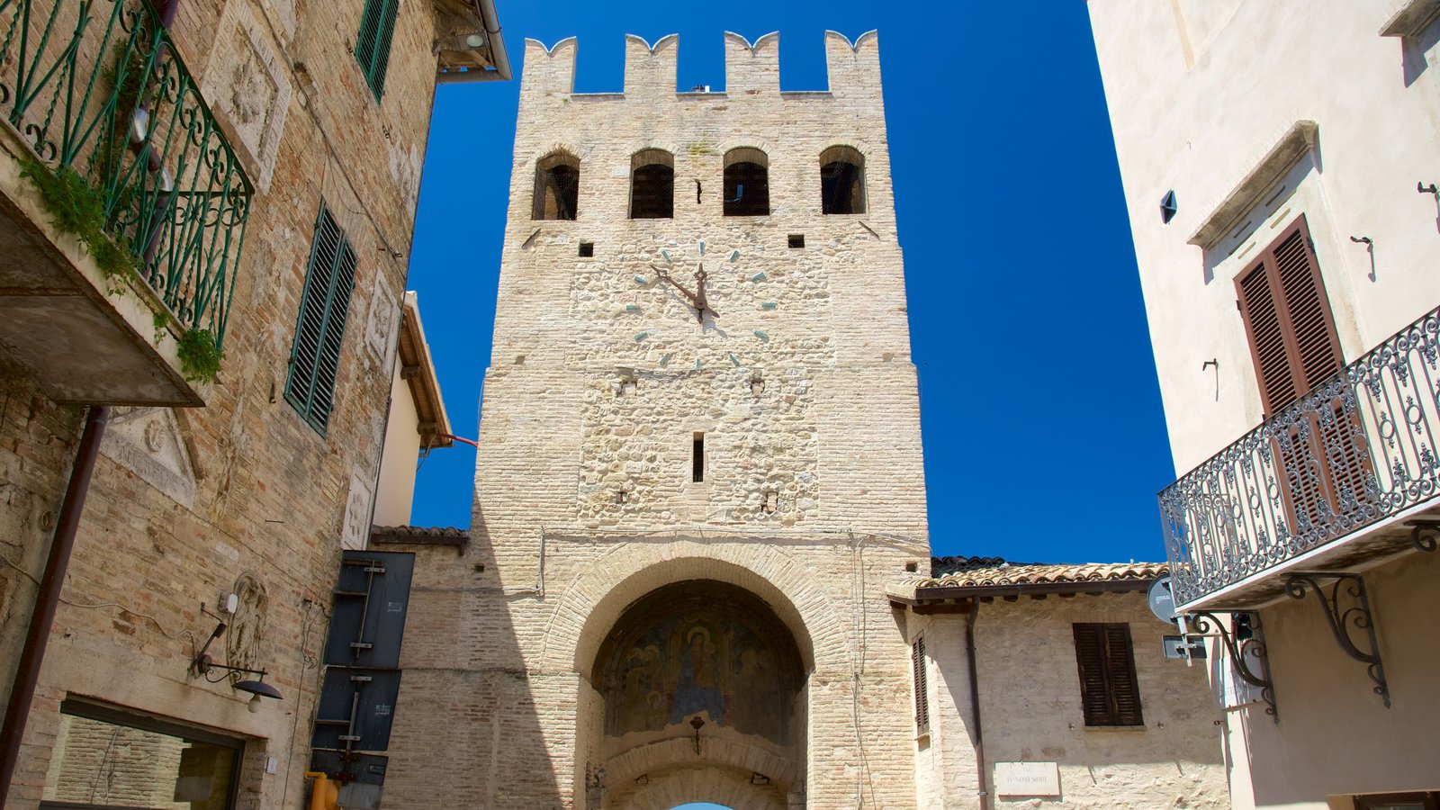 Montefalco showing heritage architecture