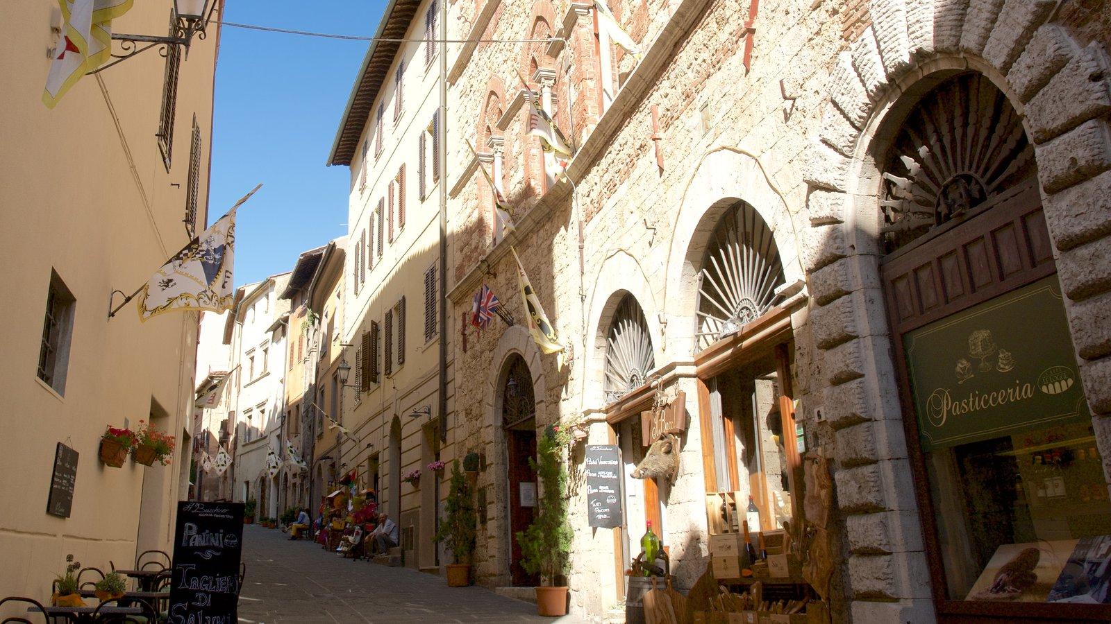 Massa Marittima featuring heritage architecture and street scenes