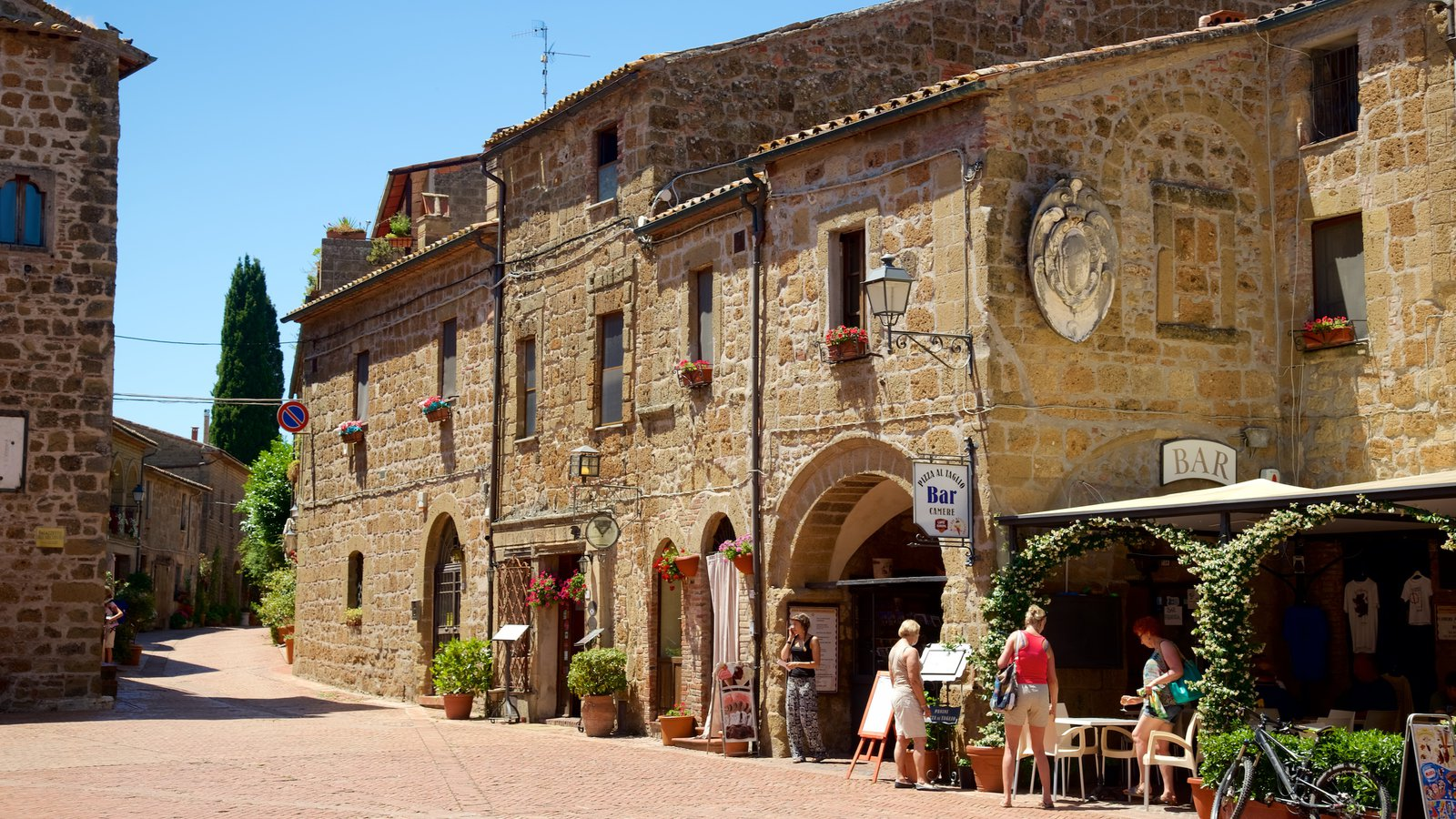 Sovana showing a small town or village