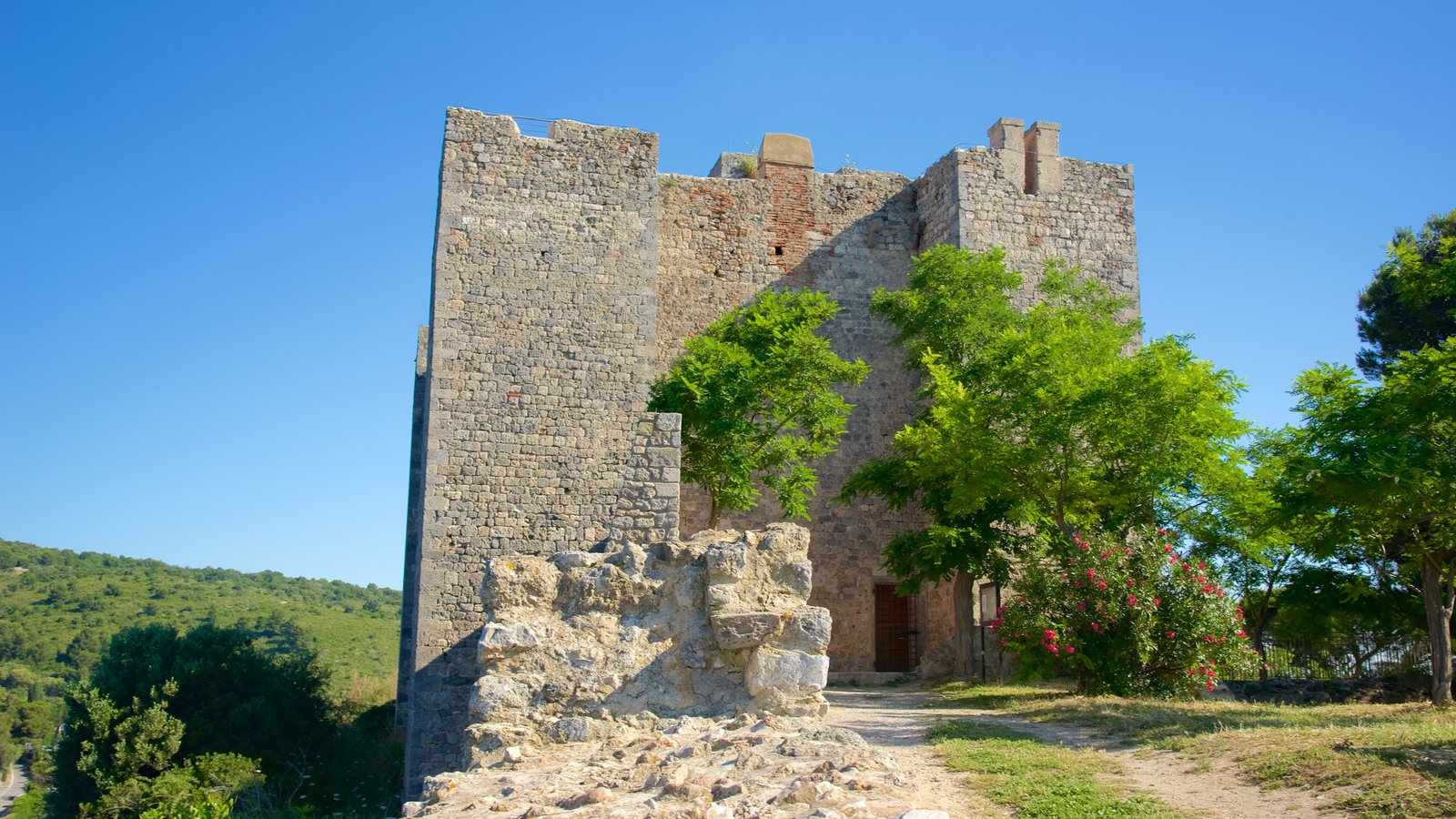 Talamone mostrando um castelo