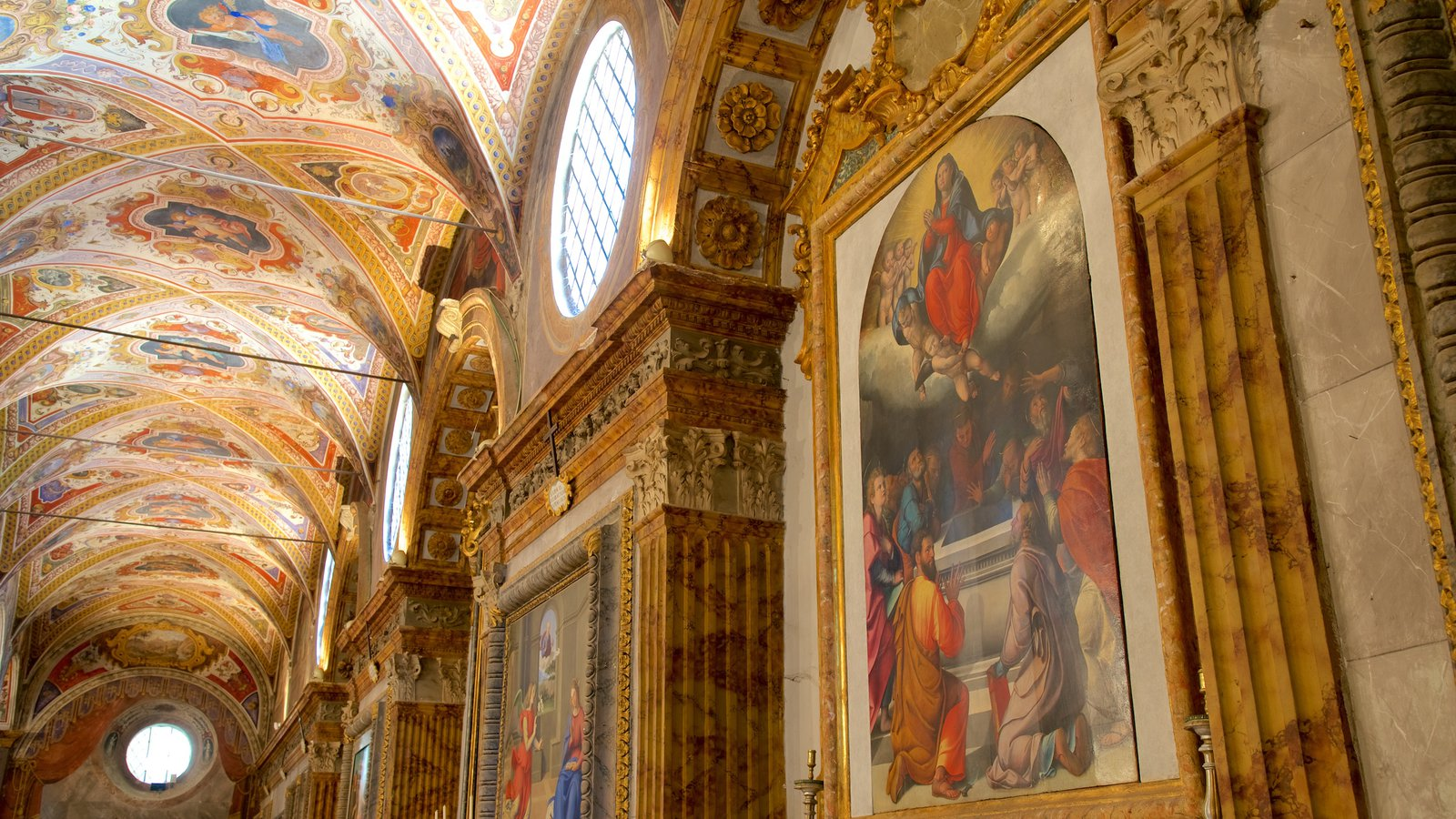 Basilica San Pietro showing interior views, religious aspects and a church or cathedral