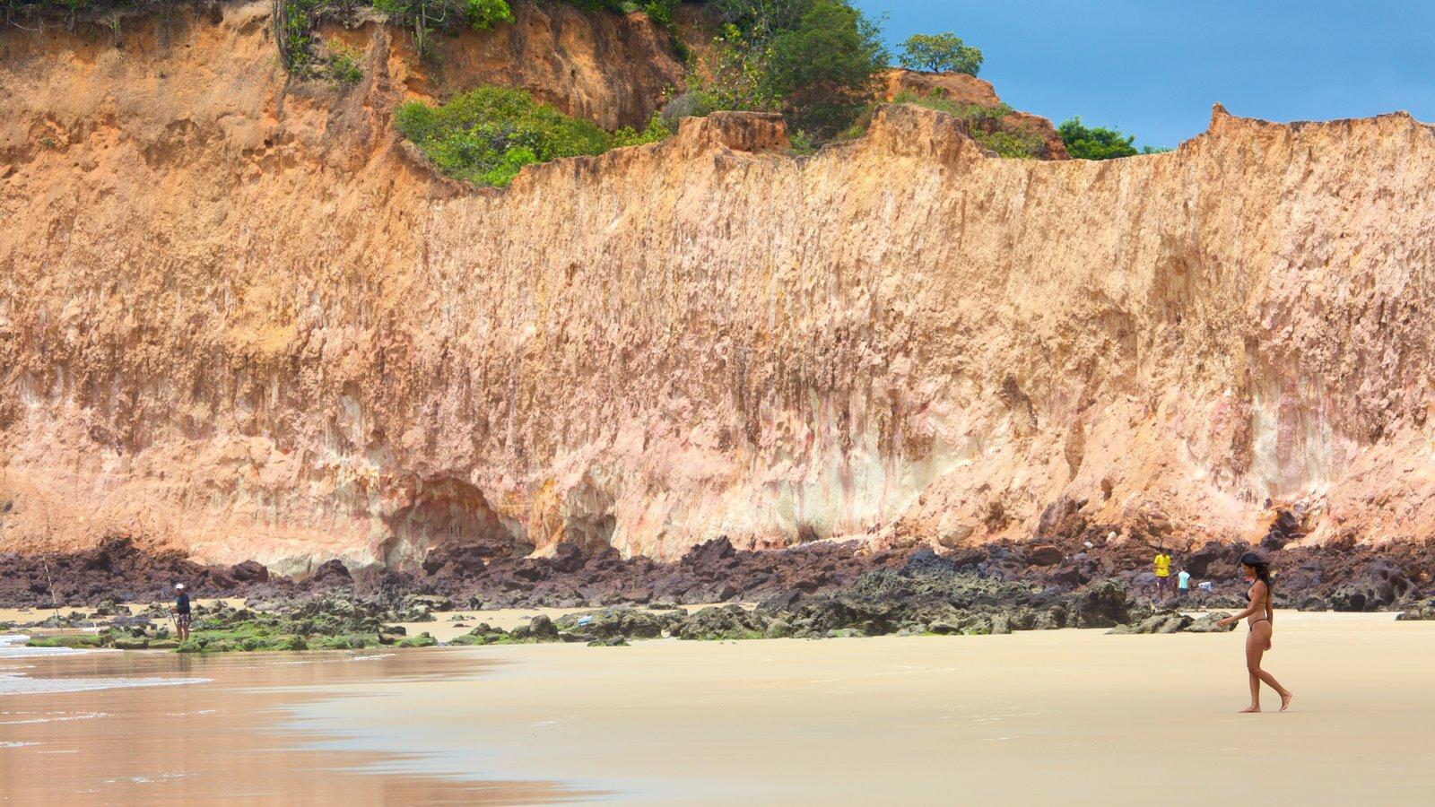 Praia de Cotovelo caracterizando uma praia de areia