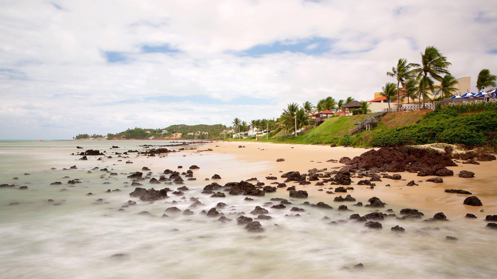 Praia de Pirangi caracterizando paisagens litorâneas, uma praia e cenas tropicais